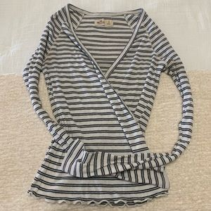 Hollister Striped Wrap Top